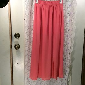 Coral Forever21 maxi skirt